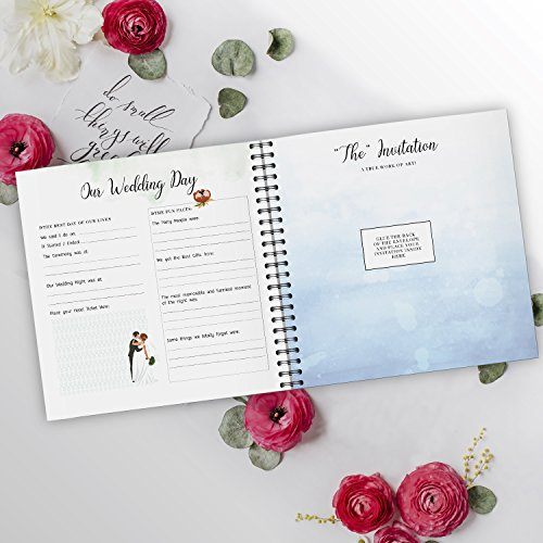 Pillow & Toast Our 1st Wedding Anniversary Journal: Memory Book & Photo Album Couples. Fill in Diary Proposal, Wedding Day Milestones. Bride Gift Ideas 2018! by Pillow & Toast (Image #4)