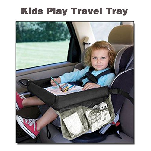 Hiltow Foldable Safety Baby Car Seat Table Kids Play Travel Tray
