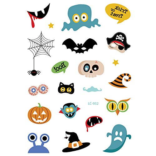 Akabsh_accessory Waterproof Halloween Face Art Tattoos Stickers,Hot Stamping Dreamcatcher Fake Tattoo Paper