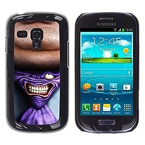 KOKO CASE / Samsung Galaxy S3 MINI NOT REGULAR! I8190 I8190N / tie man neck suit tie art drawing portrait / Slim Black Plastic Case Cover Shell Armor