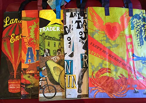 The New West Collection 2 Trader Joes BAGS (5) reusable Shopping grocery ECO bags NWT
