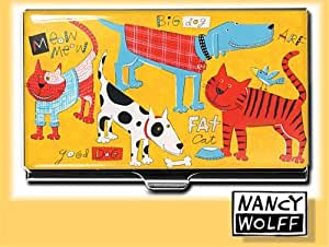 ACME Studio Cats & Dogs Card Case by Nancy Wolff (CNW03BC)