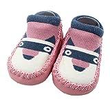 Baby Socks, KaloryWee Newborn Infant Baby Girls Boys Cute Cartoon Animal Toddler Anti-Slip Short Socks Slipper Shoes Boots Socks (0-6 Months, Pink - Puppy)