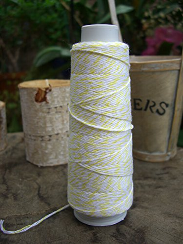 Dexon Power Bakers Twine Yellow & White 100 yds