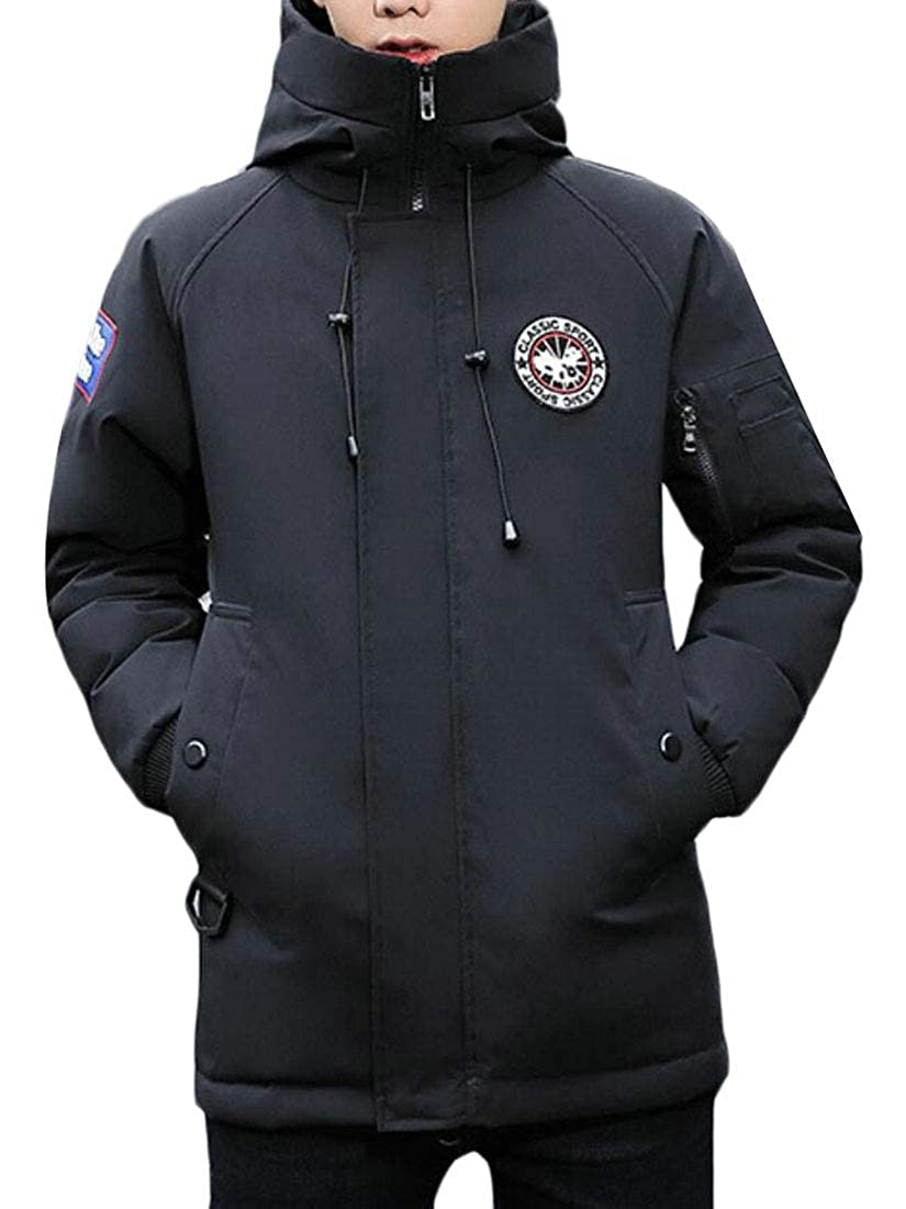 Generic Mens Snow Quilted Winter Warm Puffer Coats Hooded Down Jackets