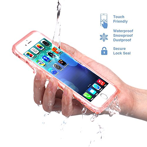 Save4you iPhone 6/6S plus Waterproof Phone Case Shockproof Dustproof Full Sealed Protection Cover Super Thin Case for Apple iPhone (6/6S Plus(5.5 inch) Rose gold)