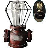 ZZ Lighting Steampunk Style Resin LED Lamp Light with Cage Shade(New Hope)