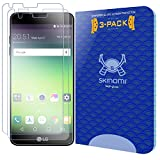 LG G6 Screen Protector (3-Pack), Skinomi Tech Glass Screen Protector for LG G6 Clear HD and 9H Hardness Ballistic Tempered Glass Shield
