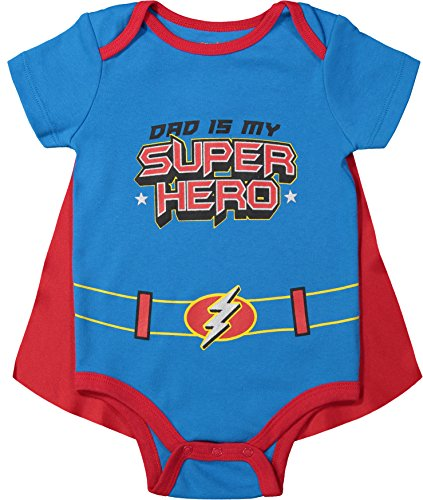 Funstuff Father's Day Super Hero Dad Infant Baby Boys' Bodysuit & Cape, Blue - http://coolthings.us