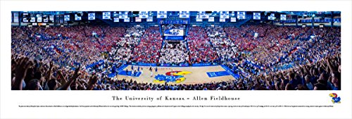 Kansas Basketball - Battle of The Blue - Blakeway Panoramas Unframed College Sports Posters ()