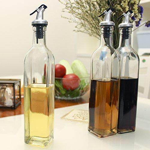 Uworth - Botella dispensadora de aceite y vinagre para cocina/cocinar con 2 vertedores (500 ml): Amazon.es: Hogar