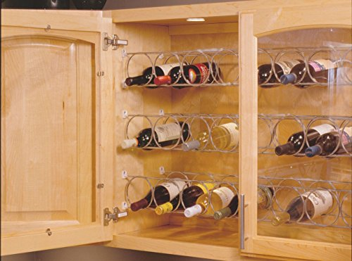 Horizontal Wine Rack - 6 Ring, Frosted Nickel 29-5/8