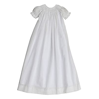 Carouselwear Baby Girls Christening Gown and Bonnet with Smocked Cross