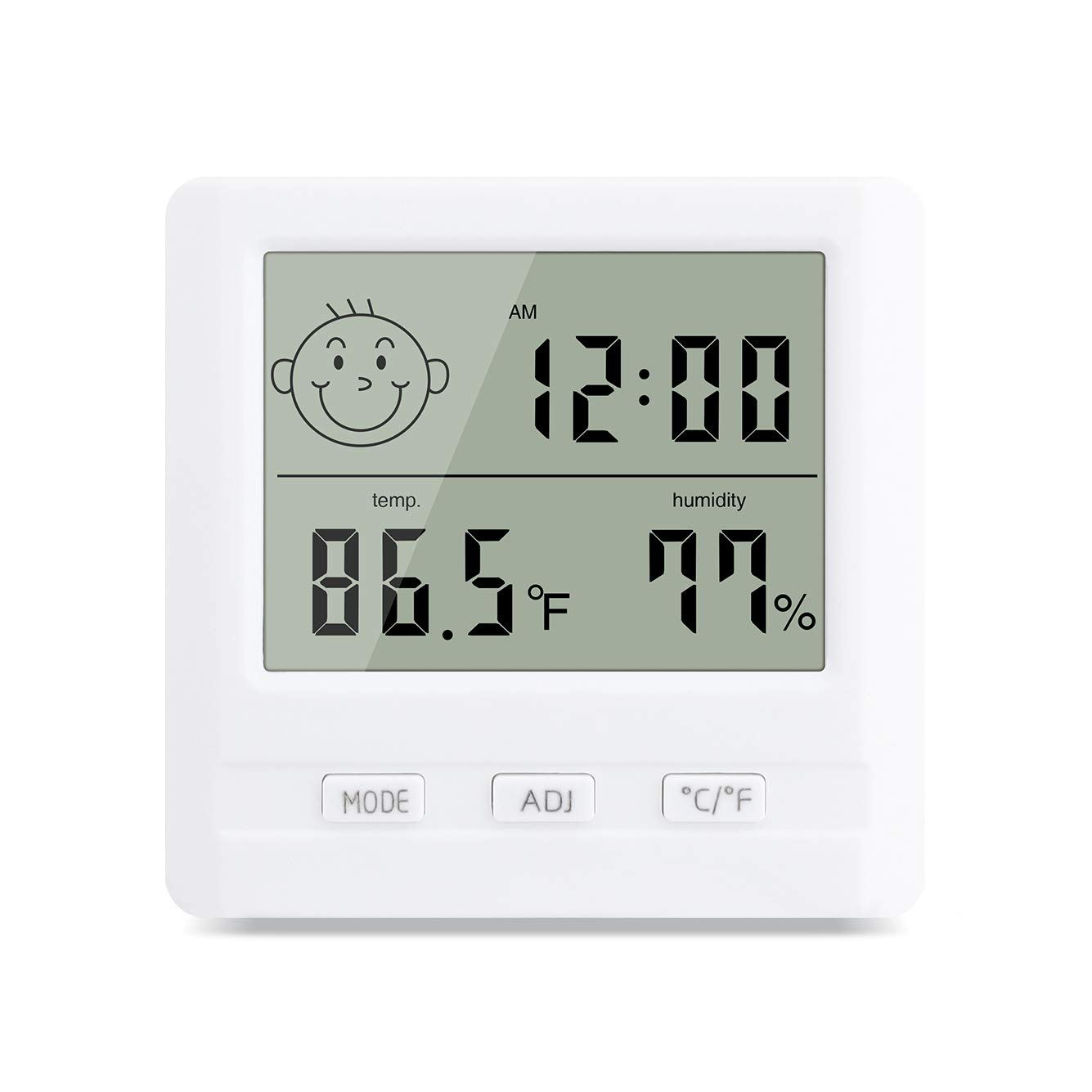 BEYELIAN Beauty Salon Use Digital Thermo Hygrometer Indoor Humidity Temperature Monitor ℃/℉ Switch for Home, Office, Greenhouse, Warehouse