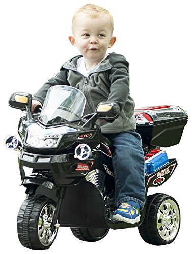 Lil' Rider 3 Wheel Battery Powered FX Sport Bike - Black Ride On
