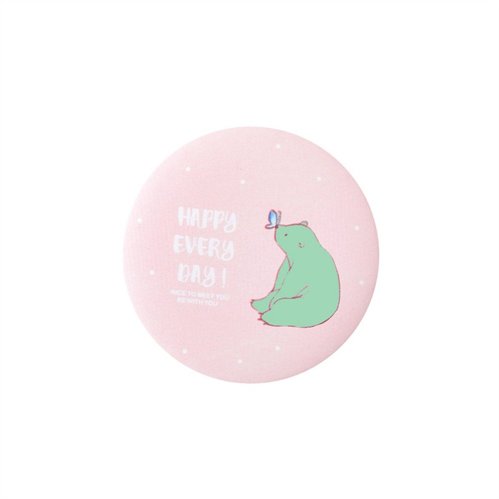 Yingealy Childrens Mirror Mini Round Cartoon Bear Pattern Small Glass Mirrors Circles for Crafts Decoration Cosmetic Accessory