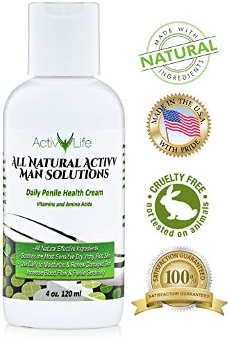 All Natural Penile Health Cream - Treat Irritated, Dry, or Cracked Skin - Find Relief from Chaffing, Eczema and Itching, Increase Penile Sensitivity and Smoothness