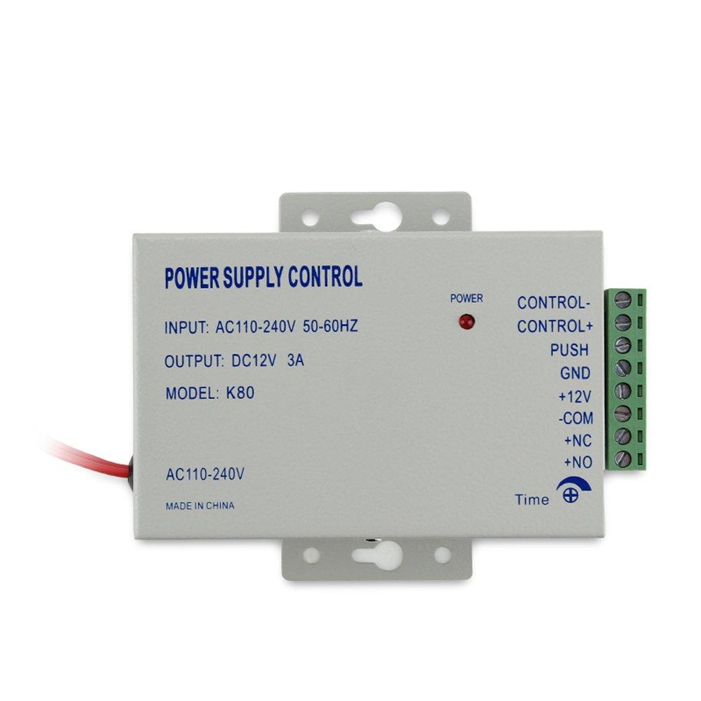 Amazon.com : Bio Fingerprint & RFID Sistema de Control de Acceso Kit & Exit Sensor de Movimiento y Bloqueo Eléctrico Lock + 110-240V Fuente de alimentación ...