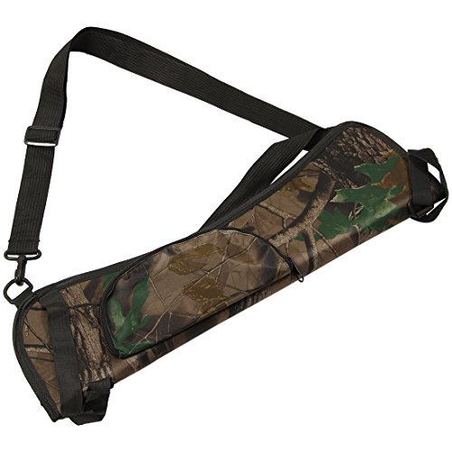TOOGOO(R) Portable Archery Quiver Arrow Holder Bow Back Side Waist Hanging Buckle Zip Pocket 58*17 cm - Exclusive Side Zip