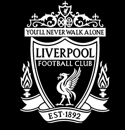 FC Liverpool (White) Premium Waterproof Vinyl Decal Stickers for Laptop Phone Accessory Helmet Car Window Bumper Mug Tuber Cup Door Wall Decoration