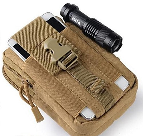 Tactical Molle Waist Pack Phone Case Pouch Outdoor Sports Bag Fanny Belt Bag EDC Camping Hiking Running Waist Pouch Wallet