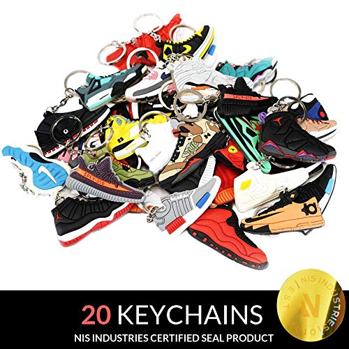 Jordan Retro Selector Pack - 20 Silicone Rubber Keychains - -