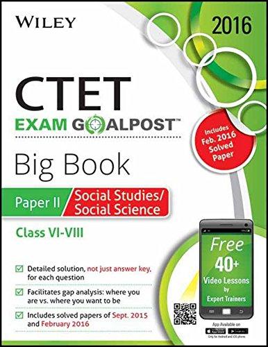 Buy Wiley's CTET Exam Goalpost Big Book, Paper II, Social Studies