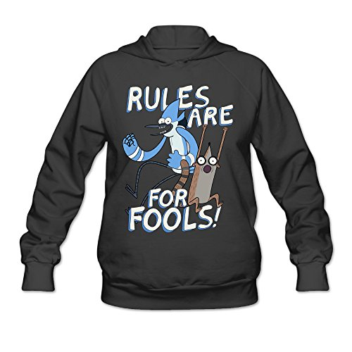 Regular Show Mordecai And Rigby Costumes (Wesley Regular Show Wen's Athletic Fleece Hoodie Black M)
