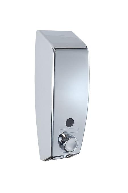 73 opinioni per WENKO 18415100 Dispenser sapone Varese cromo, 0.45 L, plastico, 8.5 x 25 x 8 cm,