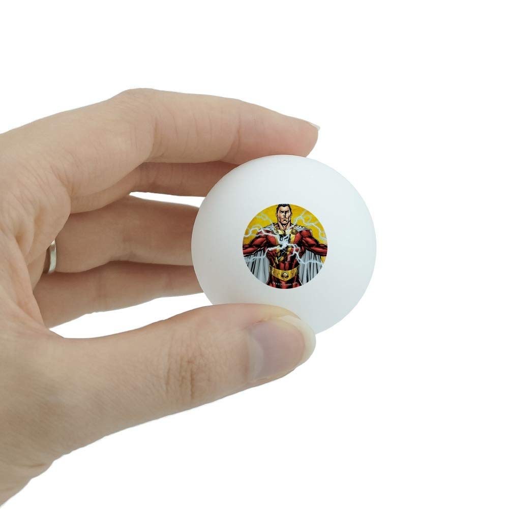 GRAPHICS /& MORE Justice League Shazam Character Novelty Table Tennis Ping Pong Ball 3 Pack