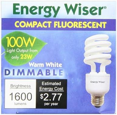 Bulbrite CF23C/WW/DM 23Watt Dimmable Compact Fluorescent Coil Bulb, Warm White - Cfl Dimmable - Amazon.com