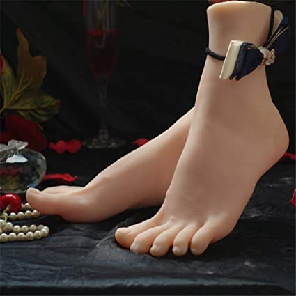 Amazon Com 1 Pair Silicone Foot Mannequin Lifesize Jewerly Sandal