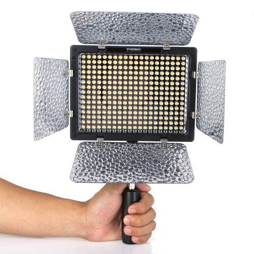 Yongnuo Professional LED Video Light Flash YN300-II With 300pcs Lamps, 4 color sheets for DSLR Camera Canon EOS, 3200-5500K adjustable color temperature by YONGNUO