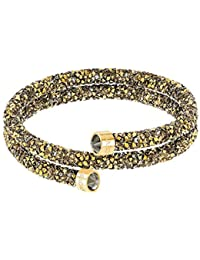Crystal Crystaldust Multi-Colored Double Bangle, Gold-Plated