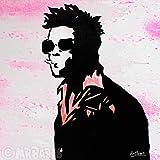 MR.BABES - ''Fight Club: Tyler Durden (Brad Pitt)'' - Original Pop Art Painting - Movie Portrait