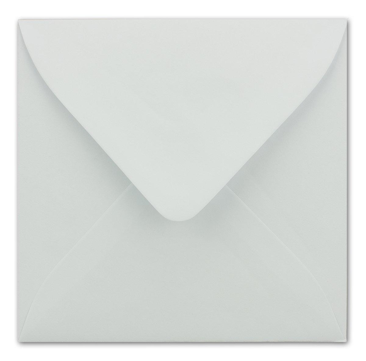 90 g//m/² Na/ßklebung Ideal f/ür Gr/ü/ße und Einladungen Weiss mit Goldenem Seidenfutter 25 Umschl/äge Quadratisch 16 x 16 cm