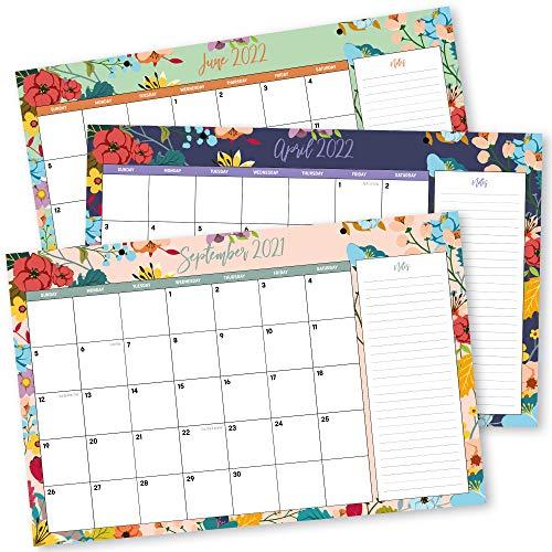 2022 Desktop Calendar.Desk Calendar 2021 2022 11 X 17 18 Month Floral Desktop Wall Calendar Pad New 5060661850043 Ebay
