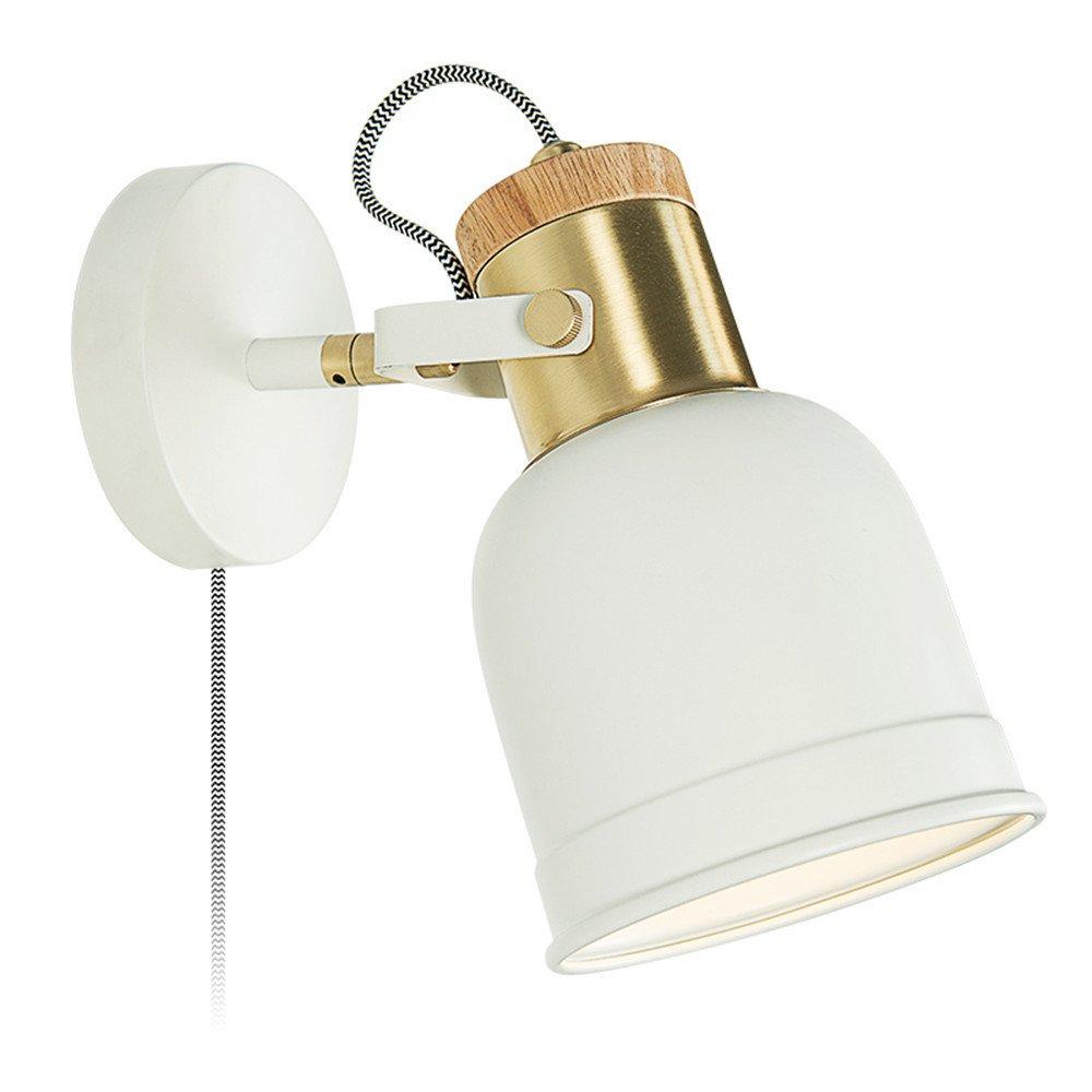MMYNL Moderne E27 Antik Wandlampe Vintage Wandlampen Wandleuchten für Schlafzimmer Wohnzimmer Bar Flur Bad Küche Balkon Nachttisch Kreatives Leselicht, Weiß Wandleuchte