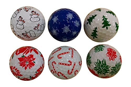Snowman Golf Ball - Christmas Holiday Mix Golf Balls (6 Pack)