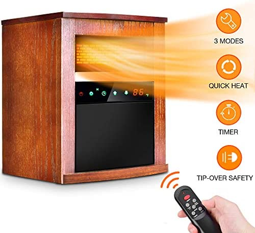 Lifesmart® 1,500w infrared heater 198623, fireplaces at.