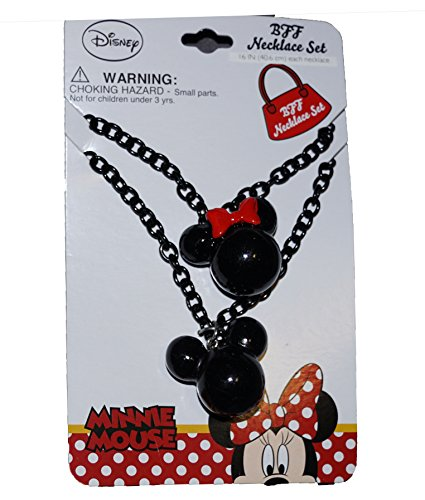 Disney Mickey Mouse & Minnie Mouse Heads Necklace Set