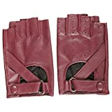 Gift Gloves, Magelier Sexy Womens Genuine Leather Motorcycle Driving Leather Gloves Fingerless Outdoor Sport Gloves