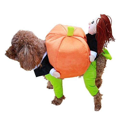 NACOCO Dog Costume Carrying Pumpkin Doll Pet Cat Costumes Funny Halloween Party Holiday Outfit (S)]()