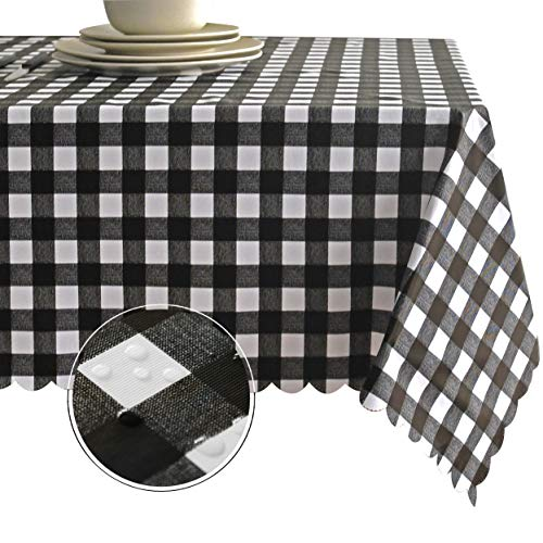 Obstal 100% Waterproof PVC Table Cloth, Oil-Proof Spill-Proof Vinyl Rectangle Tablecloth, Wipeable Table Cover for Outdoor and Indoor -
