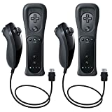 EEEKit 2 Pcs Remote and Nunchuk Controller Combo Set w/ Silicone Case and Strap for Nintendo Wii/Wii U/Wii mini