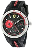 Ferrari Men's 0830254 RED REV T Multi Analog Display Quartz Black Watch