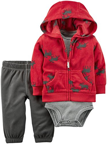 Carter's Baby Boys Cardigan Sets, Red, 12M