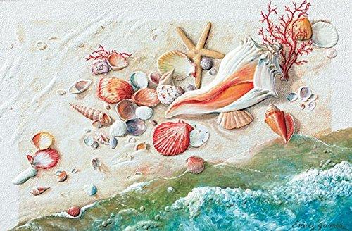 Birthday Greeting Card Seashells Seashore Treasures Single (1) Card w/Env Pumpernickel ()