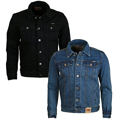 Denim Nuovo Black Uomo Jacket Da Duke nbsp;classic Western Trucker Jacket D555 Stile Jean nbsp;– F5qWI1xR1n