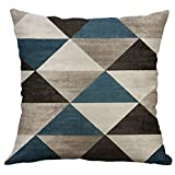 Pillows Decorative Throw Pillows, PASHY Floor Pillows 40x40cm Cushion Cover for 16 X 16 Inches Pillow Inserts